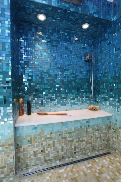 Photo  of A Tropical Glass Tile Get-away at Home modern home