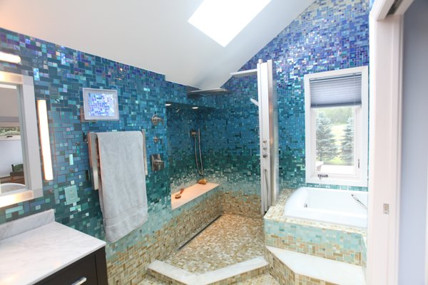 Photo 8 of A Tropical Glass Tile Get-away at Home modern home
