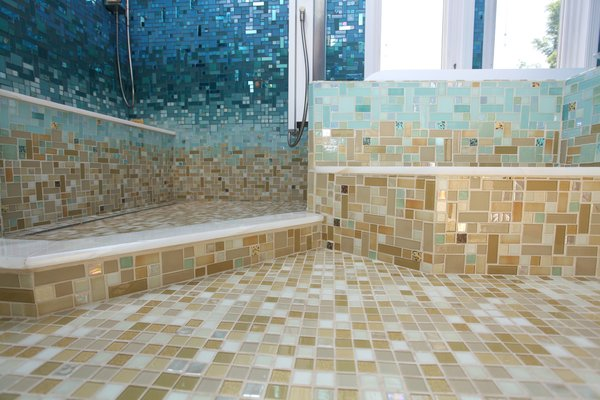 Photo 10 of A Tropical Glass Tile Get-away at Home modern home