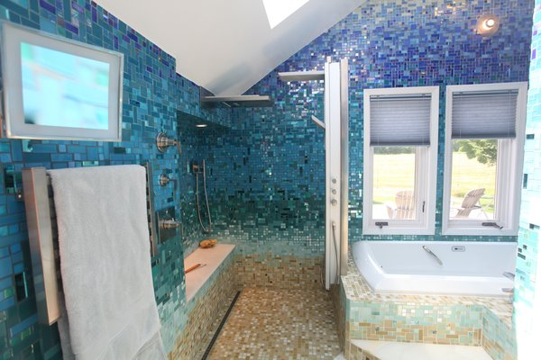 Photo 4 of A Tropical Glass Tile Get-away at Home modern home
