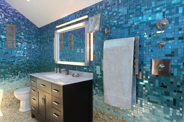 Photo 12 of A Tropical Glass Tile Get-away at Home modern home