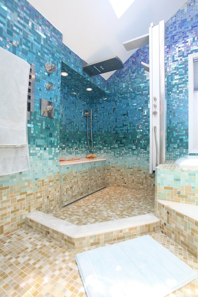 Photo 2 of A Tropical Glass Tile Get-away at Home modern home