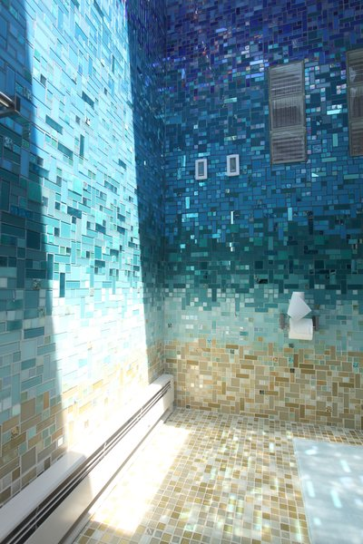 Photo 3 of A Tropical Glass Tile Get-away at Home modern home