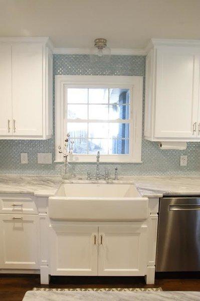 Photo 2 of South Carolina Residence: Milk Glass Backsplash modern home