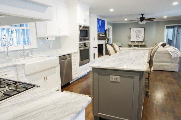 Photo 3 of South Carolina Residence: Milk Glass Backsplash modern home