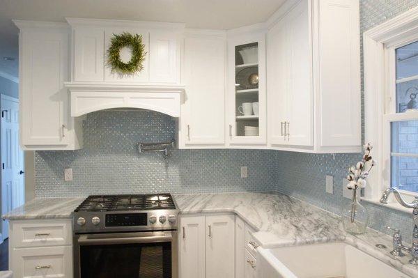 Photo 4 of South Carolina Residence: Milk Glass Backsplash modern home