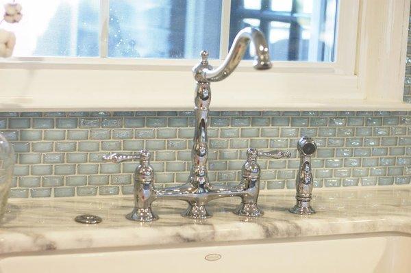 Photo 5 of South Carolina Residence: Milk Glass Backsplash modern home
