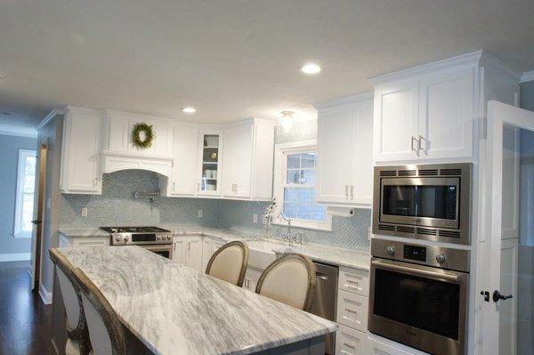 Photo 6 of South Carolina Residence: Milk Glass Backsplash modern home
