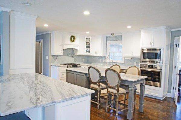 Photo 7 of South Carolina Residence: Milk Glass Backsplash modern home