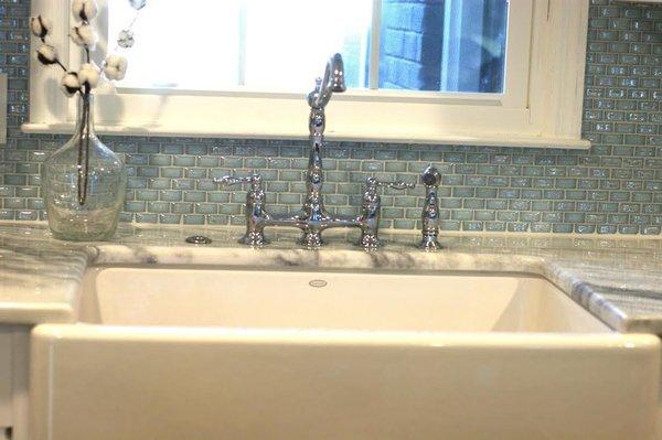 Photo 9 of South Carolina Residence: Milk Glass Backsplash modern home