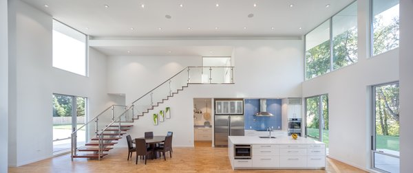Double height living space Photo 4 of The Lake House modern home