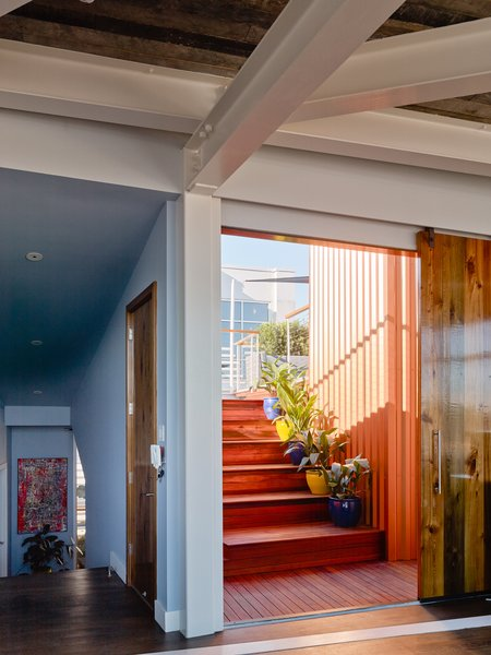 Modern home with doors, sliding door type, wood, and exterior. Photo 17 of SKY residence