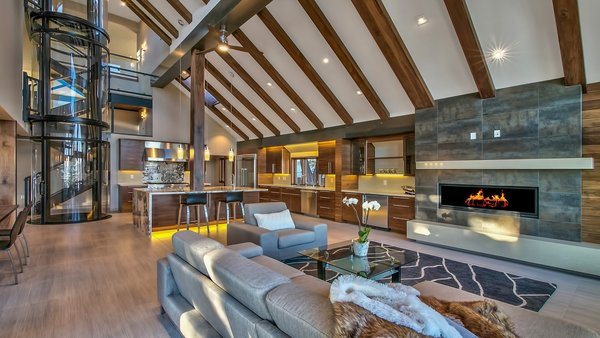 Great Room Photo 2 of Ural Mountain Home modern home