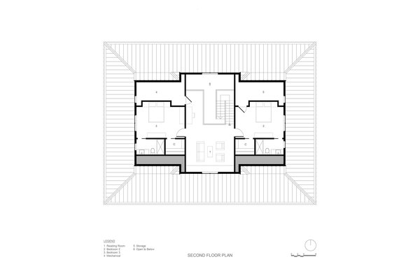 Second Floor Plan Photo 4 of River House modern home