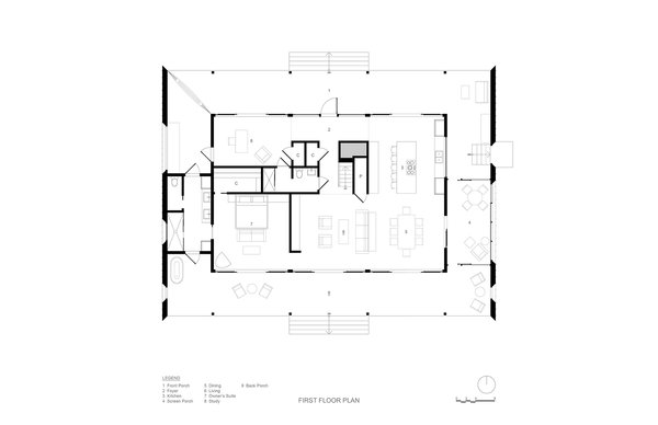 First Floor Plan Photo 3 of River House modern home