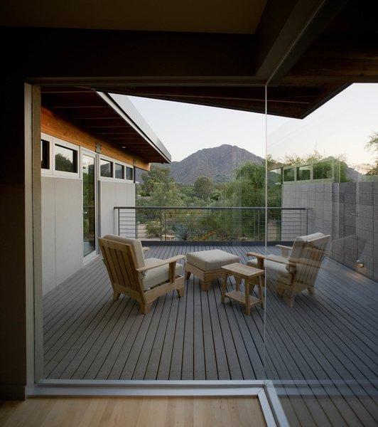 Master Deck toward Camelback Mountain Photo 9 of Paradise Valley Residence modern home