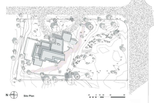 Site Plan Photo  of Paradise Valley Residence modern home
