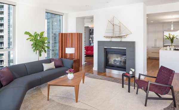 Geometric furniture combines well with the soft, elegant textiles Photo 2 of Atwater modern home
