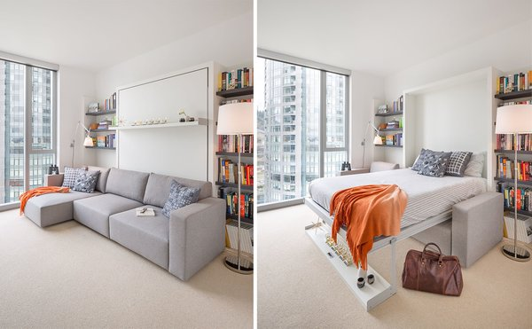 The Murphy Bed allows space for guests and is easily tucked away for minimal footprint Photo 7 of Atwater modern home
