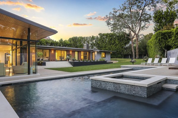 Pool & Spa Photo  of The Pinstripe House - Mid-Century Modern Minimalism. Available for $7,750,000 modern home