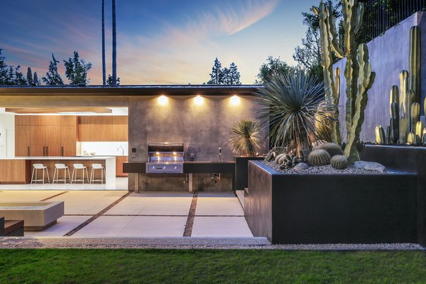 Outdoor Kitchen and Fire Pit  Photo 5 of The Pinstripe House - Mid-Century Modern Minimalism. Available for $7,750,000 modern home