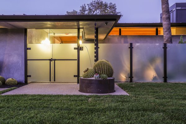 Front Entrance Photo 8 of The Pinstripe House - Mid-Century Modern Minimalism. Available for $7,750,000 modern home