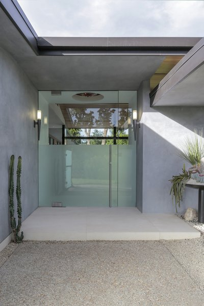 Front Door Photo 11 of The Pinstripe House - Mid-Century Modern Minimalism. Available for $7,750,000 modern home