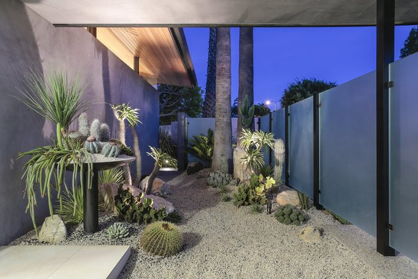 Entry Garden Photo 12 of The Pinstripe House - Mid-Century Modern Minimalism. Available for $7,750,000 modern home