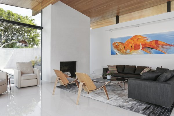 Living Room Photo 13 of The Pinstripe House - Mid-Century Modern Minimalism. Available for $7,750,000 modern home