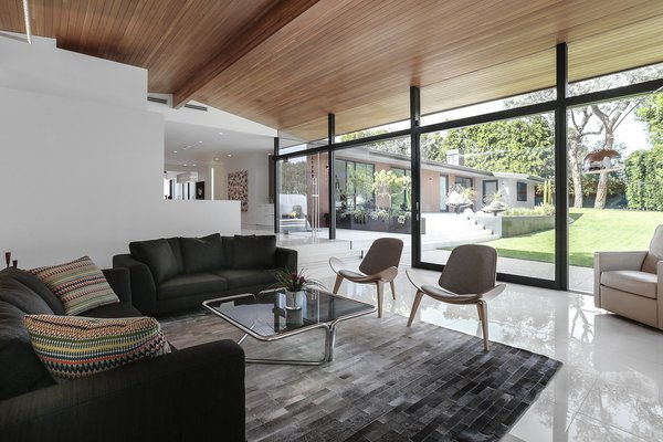 Living Room Photo 14 of The Pinstripe House - Mid-Century Modern Minimalism. Available for $7,750,000 modern home