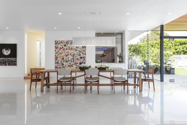 Dining Room & Wet Bar Photo 15 of The Pinstripe House - Mid-Century Modern Minimalism. Available for $7,750,000 modern home