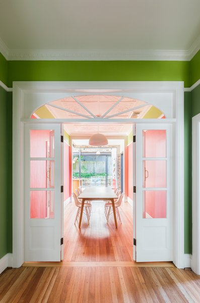 Natural light and a bold colour pallete fill the internal spaces with delight. Photo 3 of Enmore House modern home