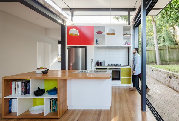Interior spaces are brightened and personalised with colourful joinery elements Photo 7 of Enmore House modern home