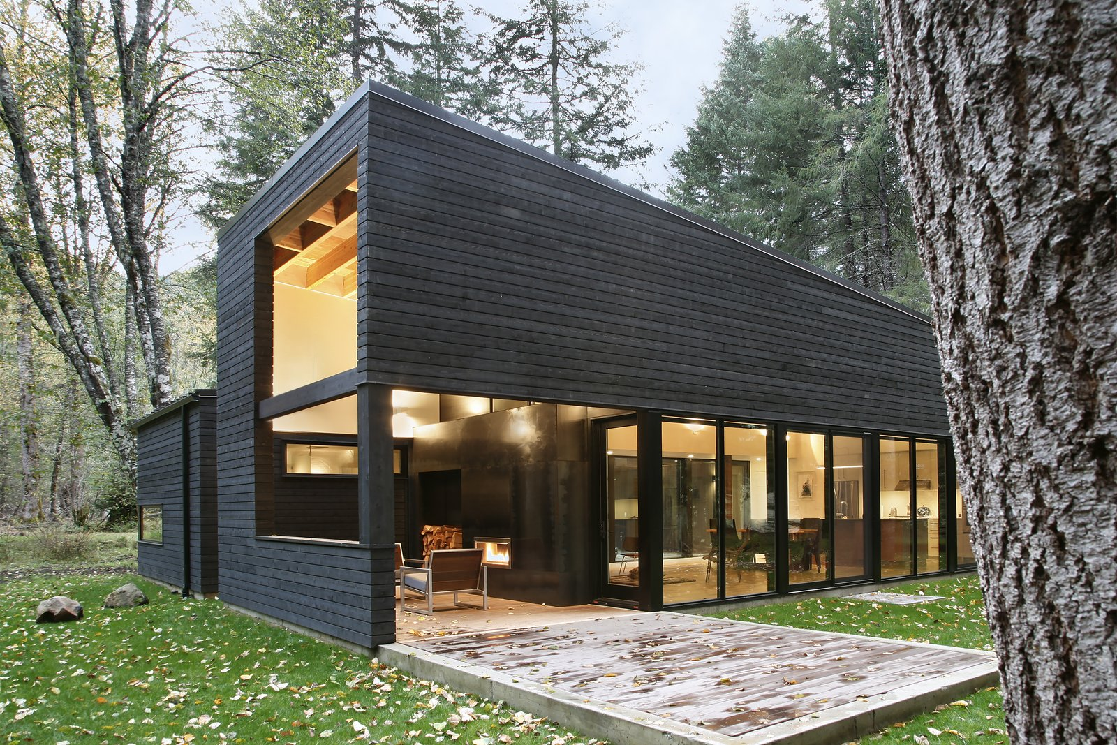 Tagged: Outdoor, Small Patio, Porch, Deck, and Wood Patio, Porch, Deck.  Courtyard House on a River by Robert Hutchison Architecture