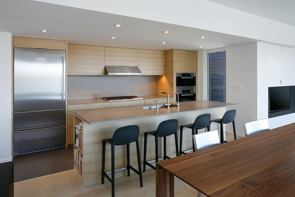 Modern home with kitchen and wood cabinet. Photo 4 of Cantilever House