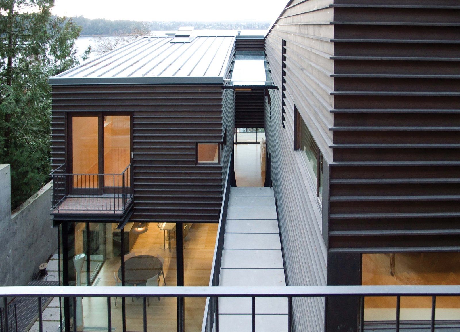 Tagged: Outdoor and Walkways.  Courtyard House on a Steep Site by Robert Hutchison Architecture