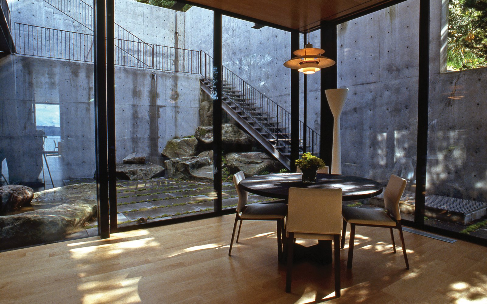 Tagged: Outdoor and Boulders.  Courtyard House on a Steep Site by Robert Hutchison Architecture