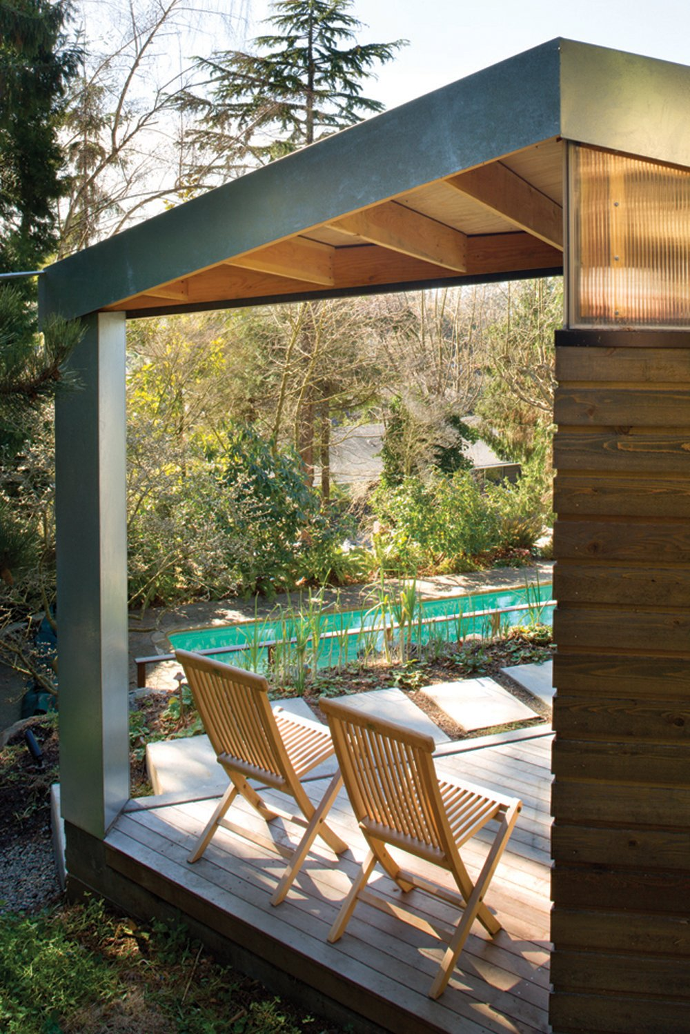 Tagged: Outdoor and Wood Patio, Porch, Deck.  Studio for a Writer by Robert Hutchison Architecture