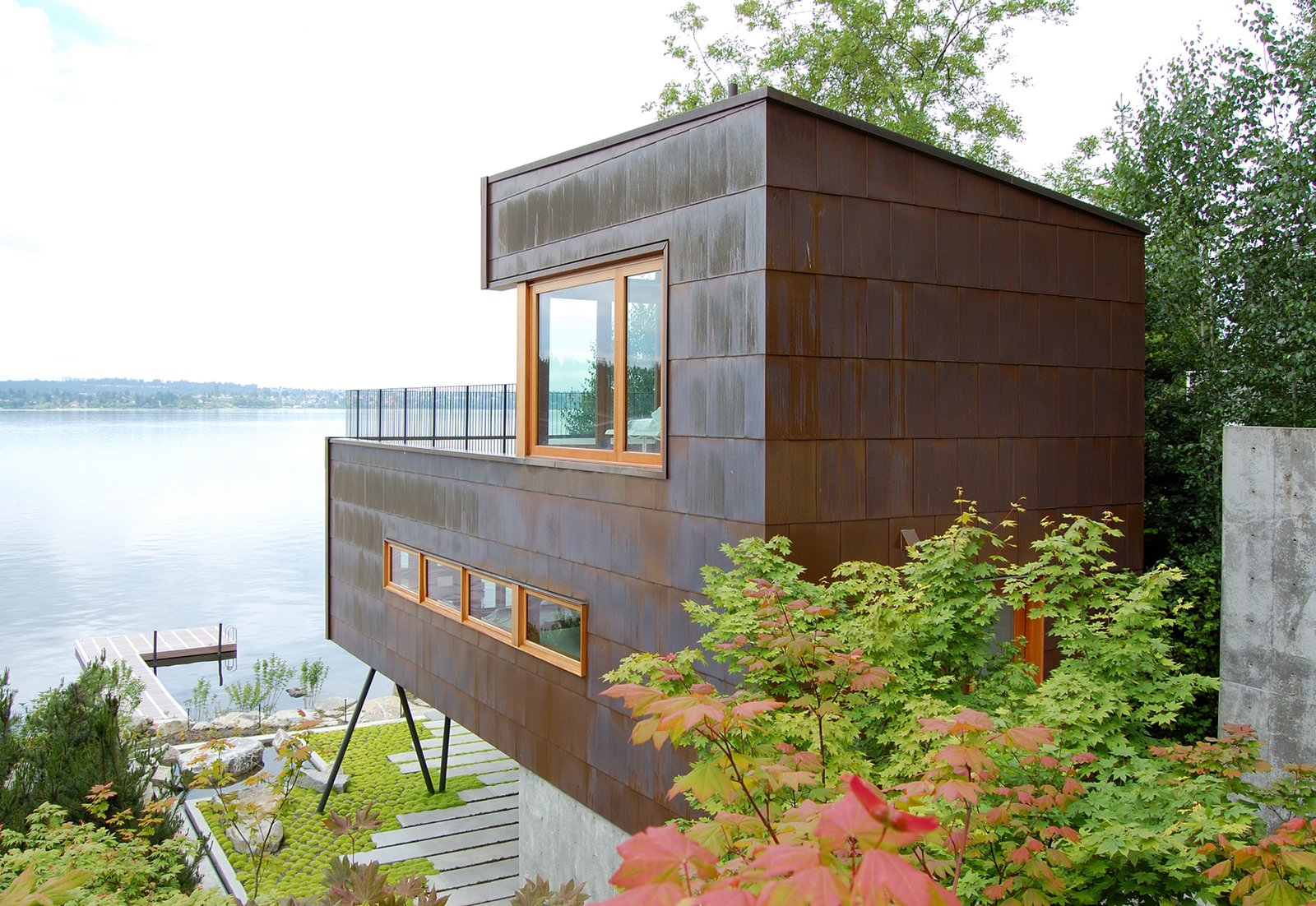 Tagged: Exterior and Metal Roof Material. Guest House on a Lake by Robert Hutchison Architecture