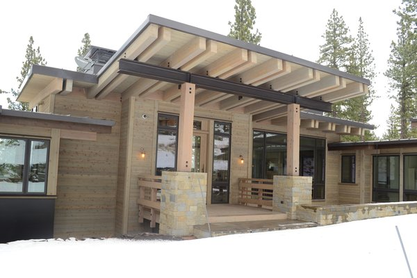 Front Entry, Martis Camp Residence by Jill Dudensing Lifestyle + Design Photo  of Martis Camp Family Home by Jill Dudensing Lifestyle + Design modern home