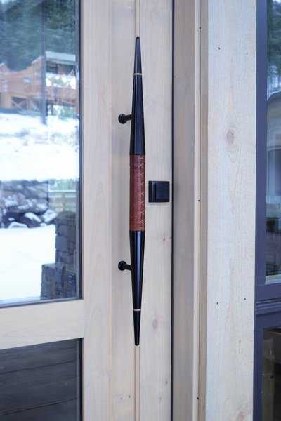 Custom Leather & Aluminum Door Handle by Rob Zinn for blankblank, Martis Camp Residence by Jill Dudensing Lifestyle + Design Photo 2 of Martis Camp Family Home by Jill Dudensing Lifestyle + Design modern home
