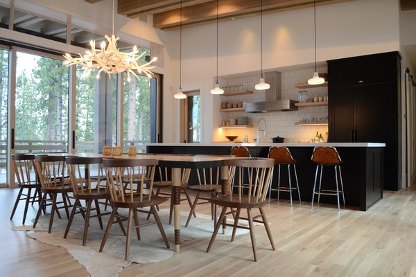 Dining Area and Kitchen, Martis Camp Residence by Jill Dudensing Lifestyle + Design Photo 6 of Martis Camp Family Home by Jill Dudensing Lifestyle + Design modern home
