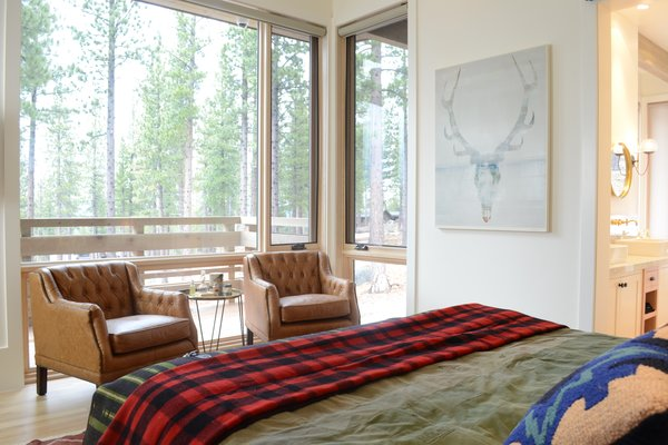 View From Master Bedroom 2 with Art by Micah Crandall-Bear, Martis Camp Residence by Jill Dudensing Lifestyle + Design Photo 10 of Martis Camp Family Home by Jill Dudensing Lifestyle + Design modern home