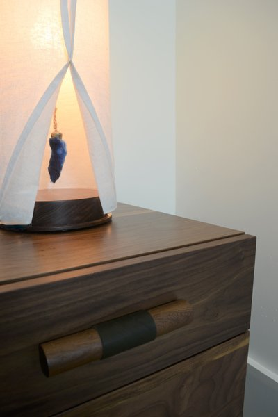 Detail of Custom Lamp & Nightstand by Rob Zinn for blankblank, Martis Camp Residence by Jill Dudensing Lifestyle + Design Photo 11 of Martis Camp Family Home by Jill Dudensing Lifestyle + Design modern home