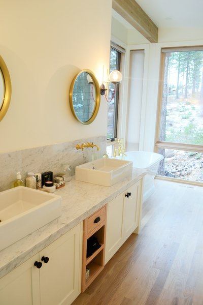 Master Bathroom 2, Martis Camp Residence by Jill Dudensing Lifestyle + Design Photo 12 of Martis Camp Family Home by Jill Dudensing Lifestyle + Design modern home
