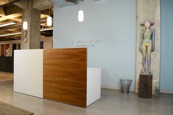 Reception Desk, Modern Law Firm by Jill Dudensing Lifestyle + Design Photo 3 of Modern Law Firm by Jill Dudensing Lifestyle + Design modern home