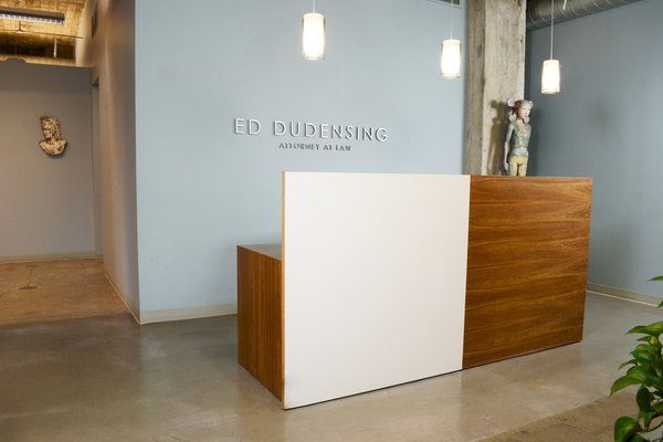 Reception Desk, Modern Law Firm by Jill Dudensing Lifestyle + Design Photo  of Modern Law Firm by Jill Dudensing Lifestyle + Design modern home