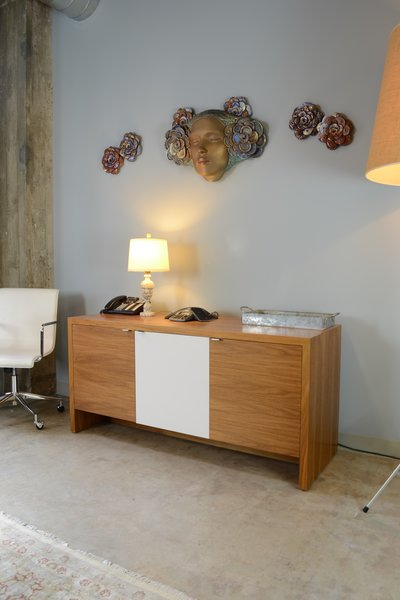 Custom Credenza by Bespoke by blankblank & Wall Relief by Camille Vandenberge, Modern Law Firm by Jill Dudensing Lifestyle + Design Photo 8 of Modern Law Firm by Jill Dudensing Lifestyle + Design modern home