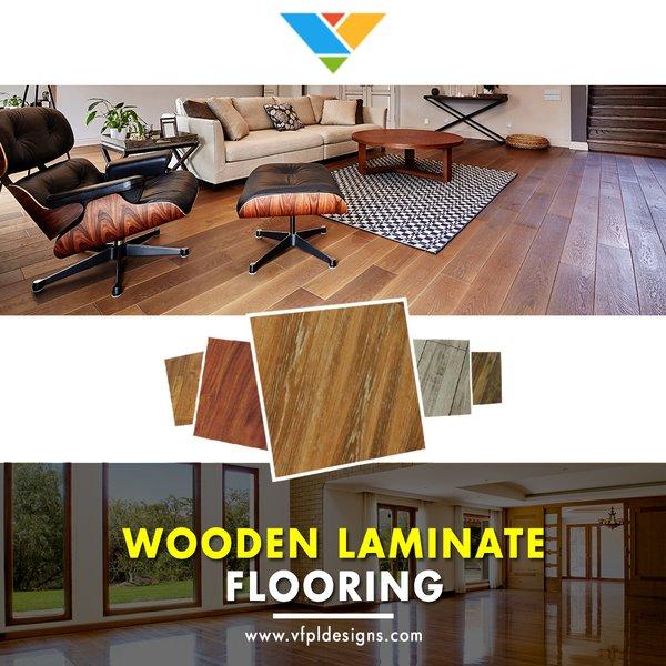 Modern home with living room and light hardwood floor. Photo  of Wood Laminate Flooring in Delhi