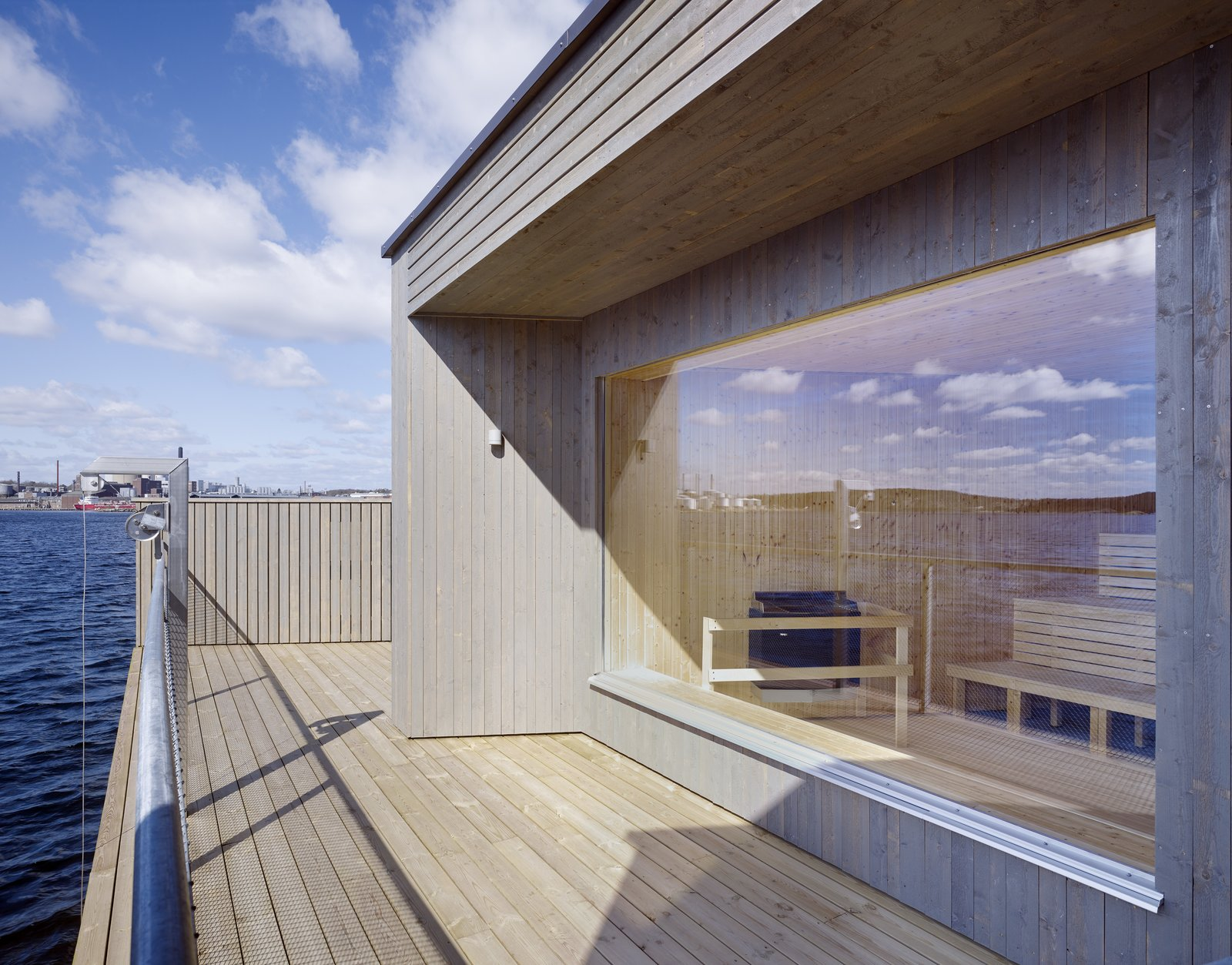 Tagged: Outdoor and Wood Patio, Porch, Deck.  Photo 3 of 6 in A Swedish Coastal Town Commissions an Otherworldly Bathhouse